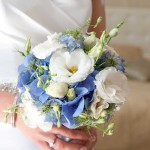 Blue wedding at French luxury chateau venue