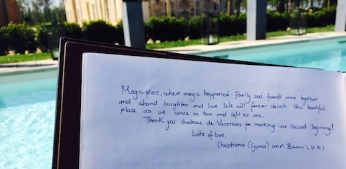 1504_Christiana_Baron_guestbook_review_500_Chateau de Varennes