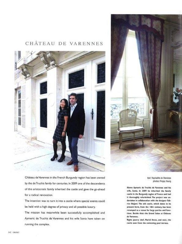 Objekt_press article_luxury French wedding venue_Chateau de Varennes_1