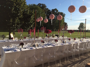 outdoor dinner table_Marine_Chateau de Varennes wedding_300