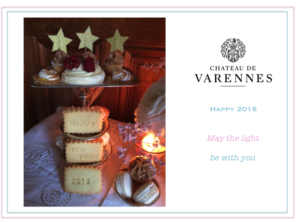 Happy New Year 2016_postcard_Chateau de Varennes logo