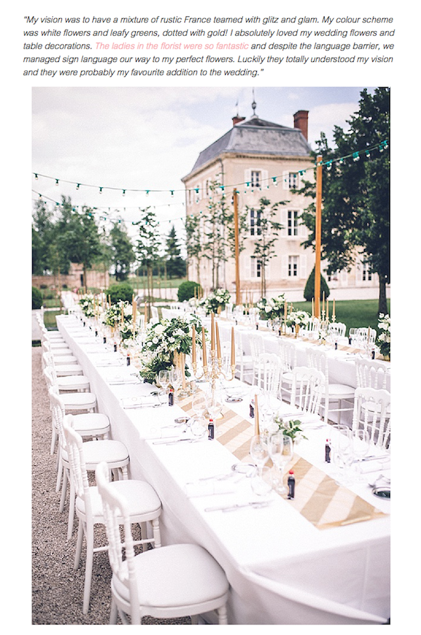 Press Glitz And Glam Outdoor Wedding Chateau De Varennes